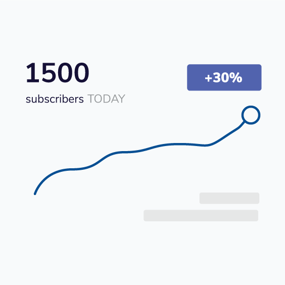 30% subscriber growth