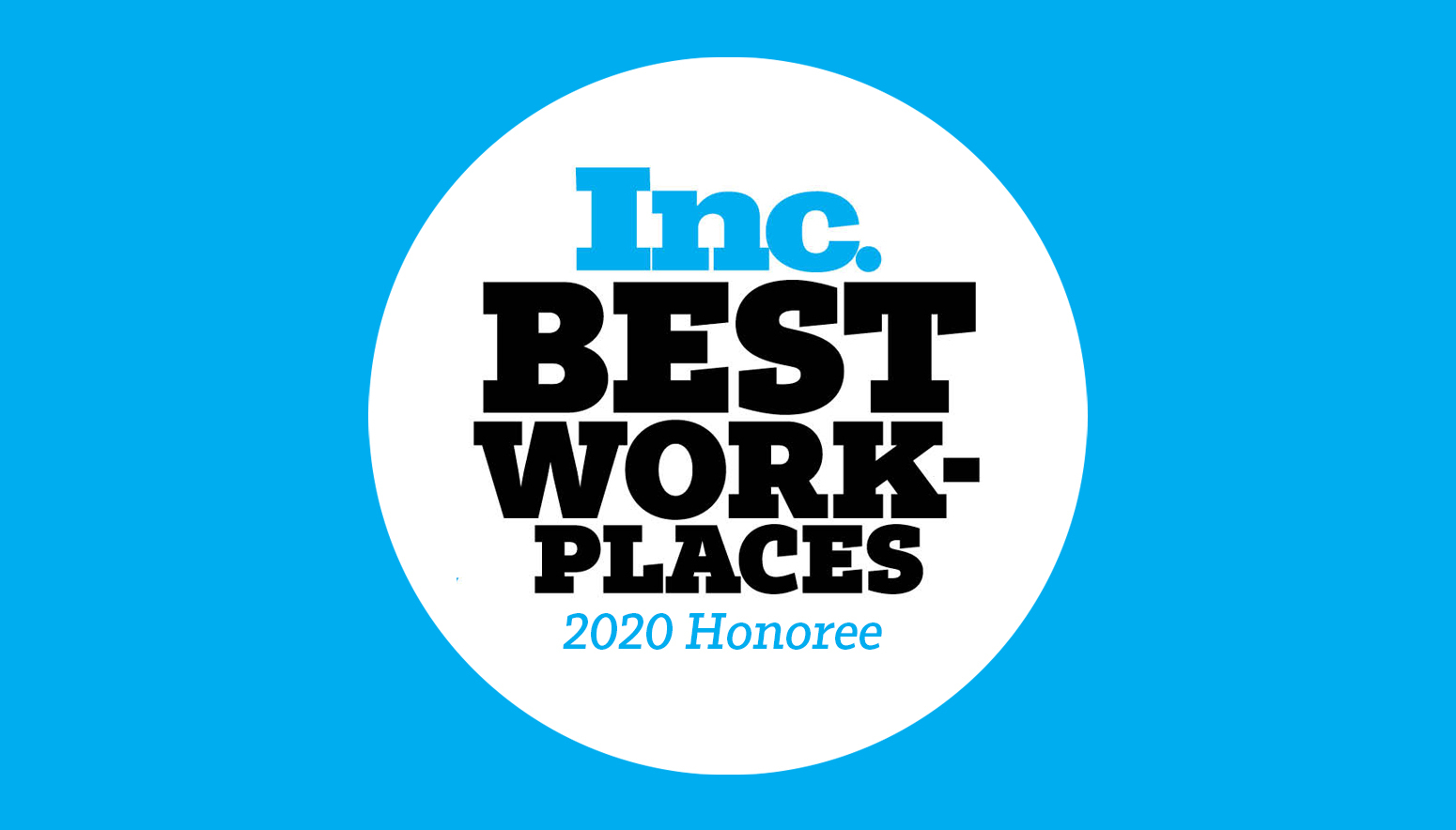 Inc Best Places to Work 2020