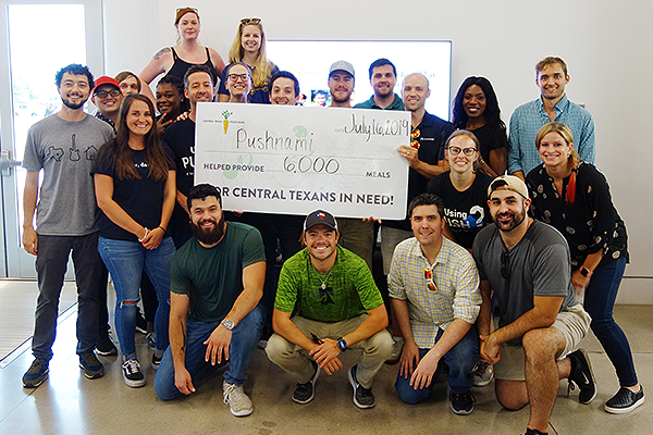 Pushnami and the Central Texas Food Bank Help Provide 6,000 Meals For the Local Austin Community